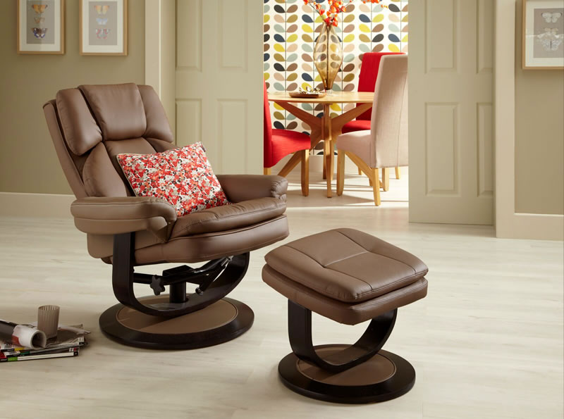 Serene VARDO SWIVEL RECLINER BONDED LEATHER FOR CHAIR